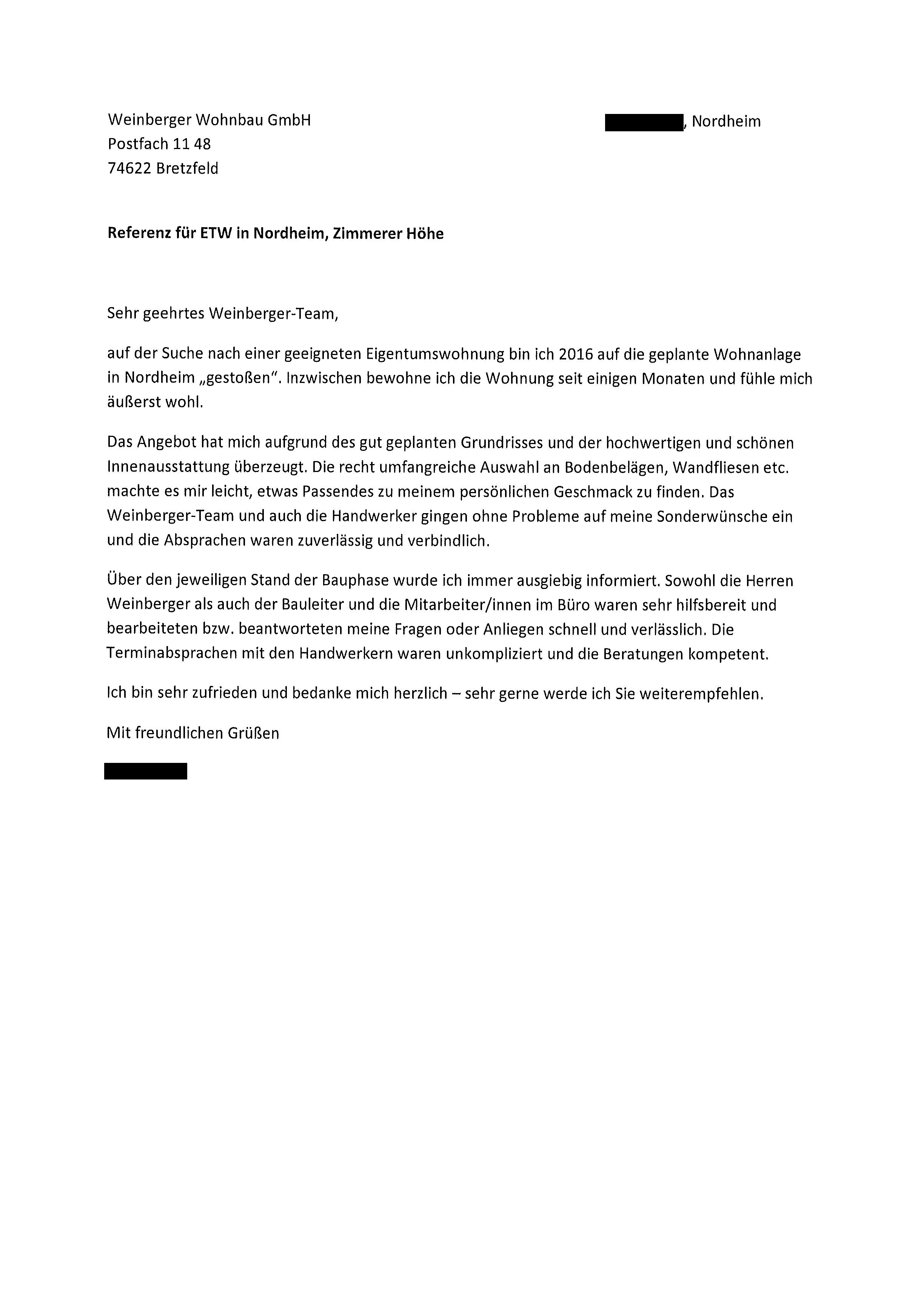 Referenzen Weinberger Wohnbau